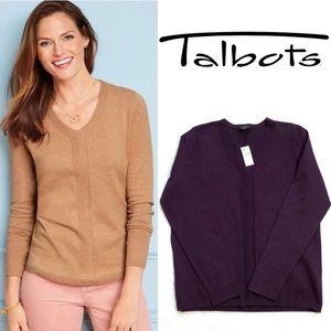 Talbots Chevron Detail Sweater